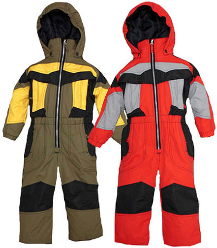 Preschool Boy's One-Piece Snow Suit